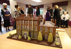 A cake of Highgrove House gifted by Prince Charles (known as The Duke of Rothesay when in Scotland) during his visit to the Ayrshire Hospice in Ayr where he met patients and their families, staff and volunteers.