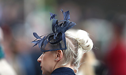 A female racegoer during Ladies Day of the 2018 Cheltenham Festival at Cheltenham Racecourse. PRESS ASSOCIATION Photo. Picture date: Wednesday March 14, 2018. See PA story RACING Cheltenham. Photo credit should read: Tim Goode/PA Wire. RESTRICTIONS: Editorial Use only, commercial use is subject to prior permission from The Jockey Club/Cheltenham Racecourse.