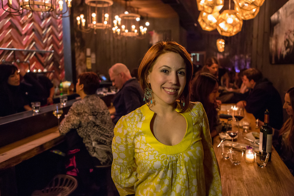 Co-owner Heather Heuser in the bar area.