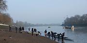 Putney, London,  Tideway Week, Championship Course. River Thames,  Oxford UBC. Boating.<br /> Tuesday  28/03/2017<br /> [Mandatory Credit; Credit: Peter Spurrier/Intersport Images.com ]