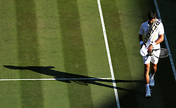 Novak Djokovic on day two of the Wimbledon Championships at the All England Lawn Tennis and Croquet Club, Wimbledon.