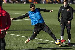 January 5, 2018 - Barcelona, Catalonia, Spain - Luis Suarez from Spain of FC Barcelona during the FC Barcelona open doors training session at Mini Estadi in Barcelona on 05 of January, 2018. (Credit Image: © Xavier Bonilla/NurPhoto via ZUMA Press)