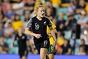 Paige Satchell during the Cup of Nations Women's Football match, New Zealand Football Ferns v Matildas, Leichhardt Oval, Thursday 28th Feb 2019. Copyright Photo: David Neilson / www.photosport.nz
