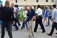 """Brad Pitt and  Ellen DeGeneres take a walking tour through the """" Make it Right """" houses in New Orleans Lower 9th Ward the day before a star-studded gala being held in New Orleans for Brad's Make it Right Foundation."""