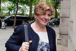 © Licensed to London News Pictures. 05/05/2017. London, UK. EMILY THORNBERRY seen in Westminster on the morning of local and mayoral election results. Local election results are believed to be a possible indicator of how Labour might perform at the general election on June 8. Photo credit: Ben Cawthra/LNP
