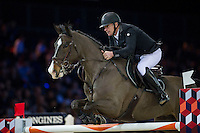 Roger Yves Bost on Record d'Oreal competes during the Airbus Trophy at the Longines Masters of Hong Kong on 20 February 2016 at the Asia World Expo in Hong Kong, China. Photo by Juan Manuel Serrano / Power Sport Images