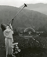 1942 Trumpeter at Easter Sunrise Service at the Hollywood Bowl