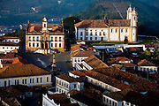 Ouro Preto_MG, Brasil...Vista panoramica de Ouro Preto, com destaque para a Praca Tiradentes...The panoramic view of Ouro Preto with Tiradentes square in detail...Foto: LEO DRUMOND / NITRO.