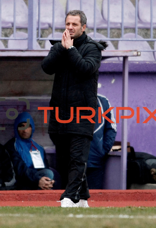 Eyupspor's coach Bahattin Demircan during their Turkey Cup matchday 3 soccer match Eyupspor between Eskisehirspor at Eyup Stadium in Istanbul Turkey on Wednesday, 11 January 2012. Photo by TURKPIX