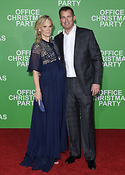 """Arrivals at the """"Office Christmas Party"""" film premiere in Los Angeles, California. 07 Dec 2016 Pictured: Molyl Sims and Scott Stuber. Photo credit: Bauer Griffin / MEGA TheMegaAgency.com +1 888 505 6342"""
