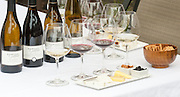 Wine and cheese pairings at Dutton Goldfield Winery tasting room. Graton, California