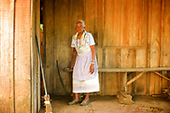 Panchita lives in a tiny, three-room, tin-roof shack on a borrowed piece of land. She's mostly blind and partially deaf, yet she lives alone. She has been awake since 4:00 am, rising early to sweep the jungle floor outside her house.