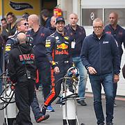 NLD/Zandvoort/20180520 - Jumbo Race dagen 2018, Daniel Ricciardo en David Coulthard en Olav Mol