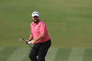 Shane Lowry (IRL) on the 3rd during Round 2 of the Omega Dubai Desert Classic, Emirates Golf Club, Dubai,  United Arab Emirates. 25/01/2019<br /> Picture: Golffile | Thos Caffrey<br /> <br /> <br /> All photo usage must carry mandatory copyright credit (© Golffile | Thos Caffrey)