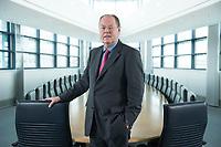 01 FEB 2013, BERLIN/GERMANY:<br /> Peer Steinbrueck, SPD Kanzlerkandidat und Bundesminsiter a.D., Sitzungssaal in der Spitze, 6. Stock, der ehem. Sitzungsaal für das SPD Praesdium, Willy-Brandt-Haus<br /> IMAGE: 20130201-01-007<br /> KEYWORDS: Peer Steinbrück