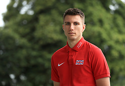 Hurdler Andrew Pozzi during the team announcement ahead of the IAAF World Championships, at the Loughborough University High Performance Centre. PRESS ASSOCIATION Photo. Picture date: Tuesday July 11, 2017. See PA story ATHLETICS Worlds. Photo credit should read: Tim Goode/PA Wire
