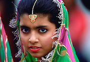 A girl with Tikka hair ornament in Pakistan