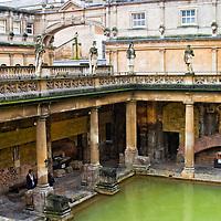 Roman baths in Bath, England.