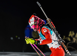 February 12, 2018 - Pyeongchang, Gangwon, South Korea - Emma Lunder of Canada competing at Women's 10km Pursuit, Biathlon, at olympics at Alpensia biathlon stadium, Pyeongchang, South Korea. on February 12, 2018. (Credit Image: © Ulrik Pedersen/NurPhoto via ZUMA Press)