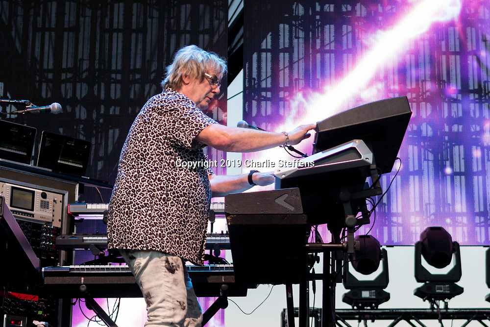 GEOFF DOWNES of Asia at Five Point Amphitheater in Irvine, California.