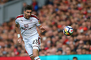 Stephen Ward of Burnley in action. Premier League match, Liverpool v Burnley at the Anfield stadium in Liverpool, Merseyside on Saturday 16th September 2017.<br /> pic by Chris Stading, Andrew Orchard sports photography.