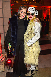 Caroline Siller and Pam Hogg at the Mary Quant VIP Preview at The Victoria & Albert Museum, London, England. 03 April 2019. <br /> <br /> ***For fees please contact us prior to publication***