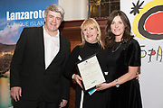 NO FEE PICTURES                                                                                                                                                                  24/1/20 Eoghan Corry, Travel Extra with Best Broadcasting sponsored by TUI:  RTE Nationwide.  Mary Fanning & Mary Kennedy and Charlotte Brenner of TUI at the Travel Extra Travel Journalist of the Year Awards at Thomas Prior House, Ballsbridge at a ceremony to coincide with the annual Holiday World Show in the RDS Simmonscourt in Dublin. Picture: Arthur Carron