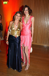 Left to right, MISS FRANCESCA VERSACE and MARIA SOLEBRIVIO SFORES at Andy & Patti Wong's Chinese New Year party to celebrate the year of the Rooster held at the Great Eastern Hotel, Liverpool Street, London on 29th January 2005.  Guests were invited to dress in 1920's Shanghai fashion.<br /><br />NON EXCLUSIVE - WORLD RIGHTS