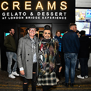 Jay Kamiraz and David Anthony attend BBC1 All Together Now Series 1 Cast Members, fright night at The London Bridge Experience & London Tombs on 28 October 2018, London, UK.