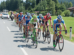 11.07.2015, Kitzbühel, AUT, Österreich Radrundfahrt, 7. Etappe, von Kitzbühel nach Innsbruck, im Bild die Spitzengruppe angeführt von Sebastian Baldauf (GER, Hrinkow Adverics Cycleang) // the leading group with Sebastian Baldauf of Germany during the Tour of Austria, 7th Stage, from Kitzbühl to Innsbruck, Kitzbühel, Austria on 2015/07/11. EXPA Pictures © 2015, PhotoCredit: EXPA/ Reinhard Eisenbauer