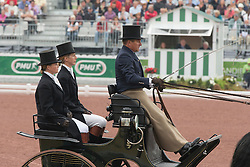 Boyd Exell, (AUS), Capone II, Curios, Rambo 395, Spitfire, Winston - Driving dressage day 2 - Alltech FEI World Equestrian Games™ 2014 - Normandy, France.<br /> © Hippo Foto Team - Dirk Caremans<br /> 05/09/14