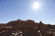 SHOT 10/19/16 1:42:30 PM - Emery County Utah tourism photos including hiking and exploring Goblin Valley including an arch rappel, the Black Dragon Canyon and  mountain biking Saucer Basin with Lamar Guymon. (Photo by Marc Piscotty / © 2016)