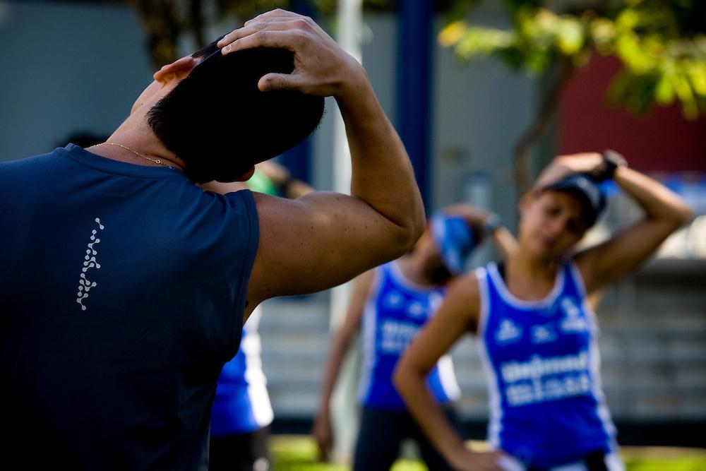 Belo Horizonte_MG, Brasil...Grupo de corredores da equipe UNIMED / MINAS em treino noturno conhecido como corujao...The runners group UNIMED / MINAS, This practice is known as Corujao...Foto: BRUNO MAGALHAES / NITRO