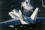 F-18 onto cat