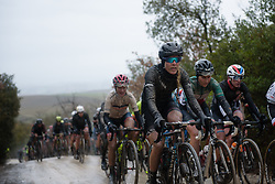 Hannah Barnes at Strade Bianche - Elite Women 2018 - a 136 km road race on March 3, 2018, starting and finishing in Siena, Italy. (Photo by Sean Robinson/Velofocus.com)
