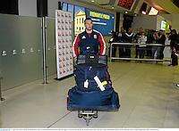 3 June 2013; Sean O'Brien, British & Irish Lions, at Perth International Airport upon the squad's arrival in Australia for the British & Irish Lions Tour 2013. Perth International Airport, Perth, Australia. Picture credit: Stephen McCarthy / SPORTSFILE