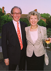 MR & MRS MICHAEL WILLIAMS she is the widow of Carl Foreman the film producer, at a party in London on 18th May 1998.MHP 52