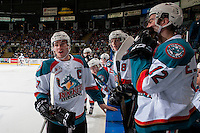 KELOWNA, CANADA - FEBRUARY 10:  Rodney Southam #17 of the Kelowna Rockets stands at the bench and trash talks the opposing team on February 10, 2017 at Prospera Place in Kelowna, British Columbia, Canada.  (Photo by Marissa Baecker/Shoot the Breeze)  *** Local Caption ***