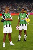Bari 3/8/2004 Trofeo Birra Moretti - Juventus Inter Palermo. <br /> <br /> David Trezeguet (L) and Darosa Emerson (R) Juventus <br /> <br /> Risultati / results (gare da 45 min. each game 45 min.) <br /> <br /> Juventus - Inter 1-0 Palermo - Inter 2-1 Juventus b. Palermo dopo/after shoot out <br /> <br /> Photo Andrea Staccioli