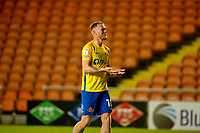 Football - 2021 / 2022 EFL Carabao Cup - Round Two - Blackpool vs. Sunderland -Bloomfield Road - Tuesday 24th August 2021<br /> <br /> Hat trick hero Aiden O'Brien of Sunderland celebrates at the end of the game, at Bloomfield Road.<br /> <br /> COLORSPORT/Alan Martin