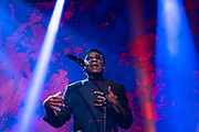 Richard Bona performs at TED2019: Bigger Than Us. April 15 - 19, 2019, Vancouver, BC, Canada. Photo: Bret Hartman / TED