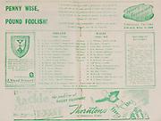 Irish Rugby Football Union, Ireland v Wales, Five Nations, Ravenhill, Belfast, Northern Ireland, Saturday 11th March, 1950,.11.3.1950, 3.11.1950,..Referee- Mr R A Beattie, Scotland, ..Score- Ireland 3 - 6 Wales,..Irish Team,..G  E Norton, Wearing number 15 Irish jersey, Full back, Bective Rangers Rugby Football Club, Dublin, Ireland,  ..M F Lane,  Wearing number 14 Irish jersey, Right wing, University college Cork Football Club, Cork, Ireland,  ..R J H Uprichard, Wearing number 13 Irish jersey, Right centre, R A F Rugby Football Club, England, ..G C Phipps, Wearing number 12 Irish jersey, Left centre, Rosslyn Park Rugby Football Club, London, England, ..L Crowe, Wearing number 11 Irish jersey, Left Wing, Old Belvedere Rugby Football Club, Dublin, Ireland, ..J W Kyle, Wearing number 10 Irish jersey, Out half, Queens University Rugby Football Club, Belfast, Northern Ireland,..R Carroll, Wearing number 9 Irish jersey, Scrum half, Landsdowne Rugby Football Club, Dublin, Ireland, ..T Clifford, Wearing number 8 Irish Jersey, Forward, Young Munster Rugby Football Club, Limerick, Ireland, ..K Mullen, Wearing number 7 Irish Jersey, Captain of the Irish team, Forward, Old Belvedere Rugby Football Club, Dublin, Ireland, ..D McKibbin, Wearing number 6 Irish jersey, Forward, Instonians Rugby Football Club, Belfast, Northern Ireland, ..J E Nelson, Wearing number 5 Irish jersey, Forward, Malone Rugby Football Club, Belfast, Northern Ireland, ..R D Agar, Wearing number 4 Irish jersey, Forward, Malone Rugby Football Club, Belfast, Northern Ireland, ..J McCarthy, Wearing number 3 Irish jersey, Forward, Dolphin Rugby Football Club, Cork, Ireland, ..D J O'Brien, Wearing number 2 Irish jersey, Forward, London Irish Rugby Football Club, Surrey, England, and, Old Belvedere Rugby Football Club, Dublin, Ireland, ..J W McKay, Wearing number 1 Irish jersey, Forward, Queens University Rugby Football Club, Belfast, Northern Ireland,..Welsh Team, ..G Williams, Wearing number 1 Welsh jersey, Full