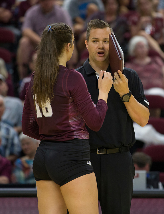 Penn State vs. Texas A&M NCAA college volleyball game Saturday, Sept. 02, 2017, in College Station, Texas.