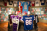 A room dedicated to former Grambling State University football players who have gone on to careers in the NFL at the Eddie G. Robinson Museum in Grambling, Louisiana on October 23, 2013.  (Cooper Neill for The New York Times)