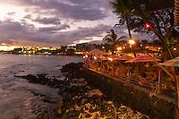 Huggo's on the Rocks restaurant, Kailua-Kona, Big Island of Hawaii, Hawaii, USA