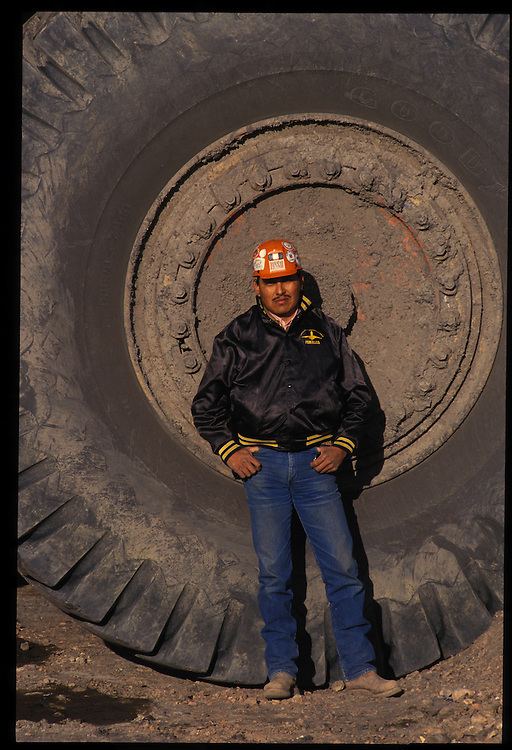 Arviso Lee - 170-ton truck driver.  Pittsberg and Midway Coal Mine.  Tse Bonito, NM  1993