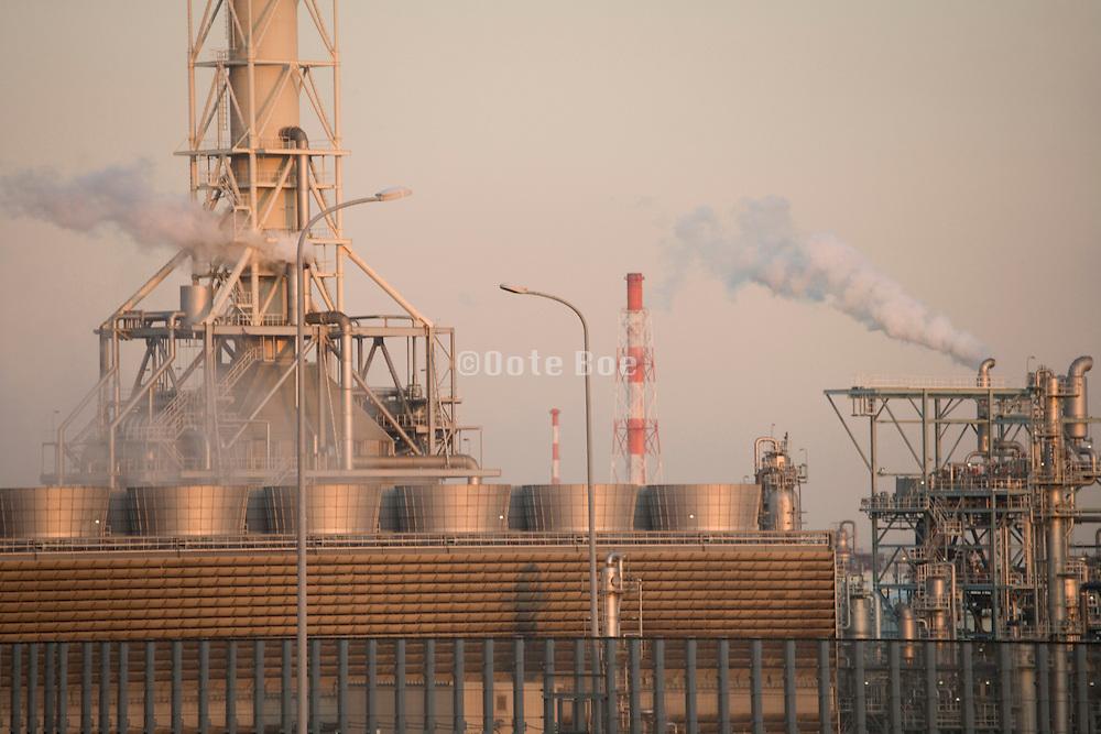 heavy industry on coastal Yokohama Japan