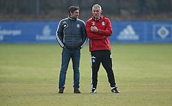 Football: Germany, 1. Bundesliga, Hamburger SV,  Hamburg, 17.02.2014<br /> Sportdirektor Oliver Kreuzer (director of sports, l.) and new coach Mirko Slomka<br /> ©pixathlon