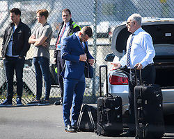 © Licensed to London News Pictures. 06/06/2016. Luton, UK. England midfielder JACK WILSHIRE with his bags as he arrives at the airport, before Members of England national football squad board a plane at Luton airport in Bedfordshire, England, to head for their training camp in France, ahead of the start of the UEFA Euro 2016 championships.  Photo credit: Ben Cawthra/LNP