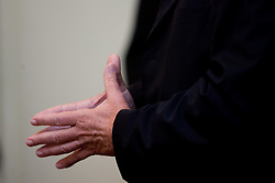 Hands of Dusan Sesok of Slovenian basketball national team after Eurobasket 2009 at reception at president of Slovenia dr. Danilo Türk,  on September 28, 2009, in Presernova 8, Ljubljana, Slovenia.  (Photo by Vid Ponikvar / Sportida)